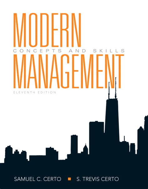 certo certo modern management concepts and skills pearson
