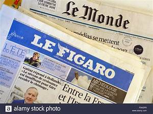 French national newspapers Le Monde & Le Figaro, France ...