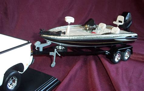Toy Bass Boat by Triton Bass Boat And Trailer Silver Ertl 1 18 Diecast