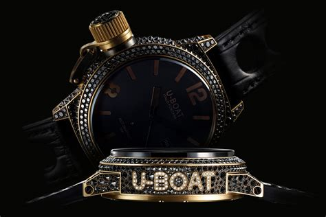 U Boat Watch With Diamonds by The U Boat Black Swan Watch Marvel