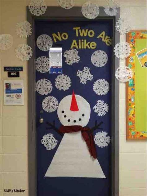 kindergarten activities for december snowman door