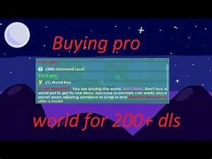 Growtopia Buying pro world for 215 dls! (Trusted) - YouTube