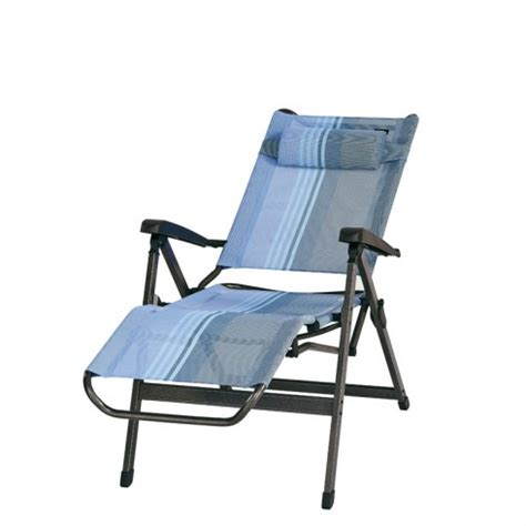 fauteuil relax trigano bleu lavande en aluminium