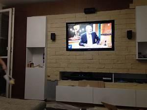 Fernseher Aufhängen Höhe : steinwand doityourself steinwand hififorumde ~ Markanthonyermac.com Haus und Dekorationen