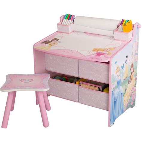 disney princess desk with storage organization