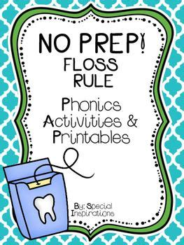 No Prep! Floss Rule Phonics Activities & Literacy Centers  Spelling Rules Pinterest