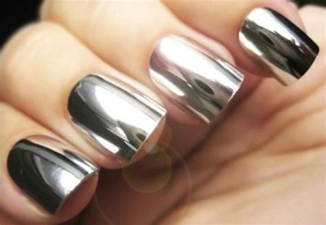 Chrome Nail Polish-mirror, Powder, Gel, Sally Hansen, Gold