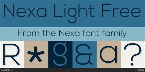 Fontspring  Similar Fonts To Nexa