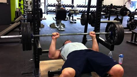 Marcantoine Ouellet, Off Pins Bench Press, 315 Lbs X 2