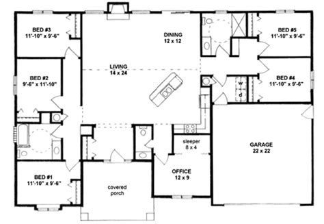 3 br 2 5 ba house plans ideas ranch style house plan 5 beds 2 50 baths 2072 sq ft plan