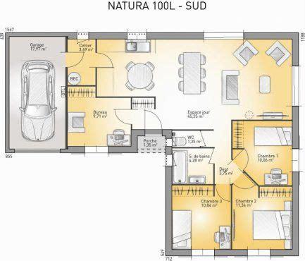 plan maison neuve 224 construire maisons confort natura 100 l plan maison