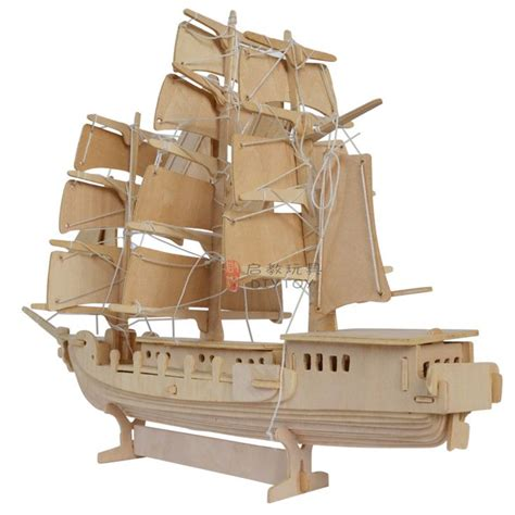 Schip Puzzel by 3d Model Ship Jigsaw Woodcraft Kits Realistic Wooden Toy