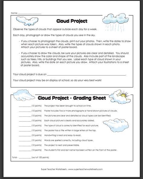 Super Teacher Worksheet Types Of Clouds  Kidz Activities