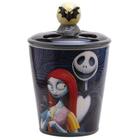 skellington and sally toothbrush holder from our