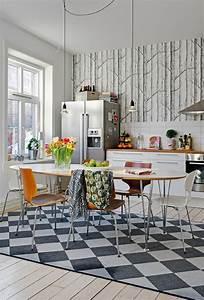 Küche Tapezieren Ideen : ideen f r tolle tapeten muster in der k che ~ Markanthonyermac.com Haus und Dekorationen
