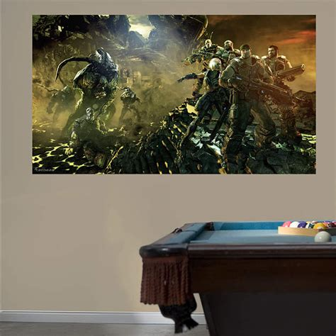 gears of war 3 battle mural wall decal shop fathead 174 for gears of war decor