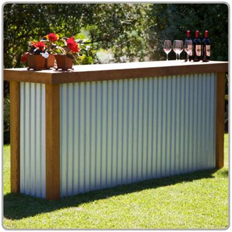 rustic country bar for an outdoor wedding