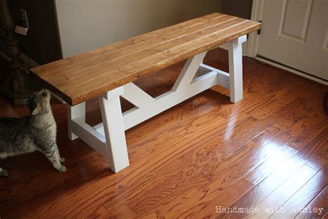 Diy Providence Bench (plans By Ana White)  Handmade With