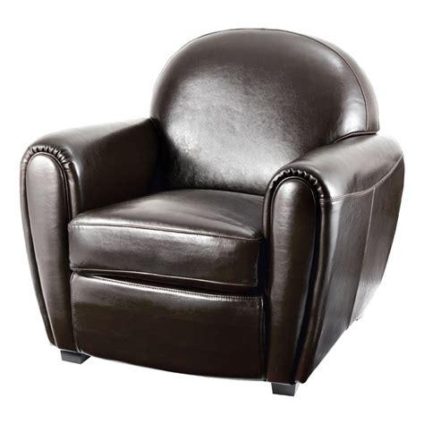 fauteuil club vintage cro 251 te de cuir marron mooviin