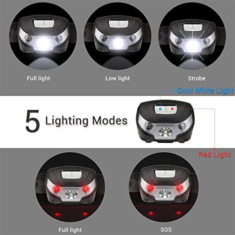 le led headl flashlight rechargeable headlights usb cable import it all