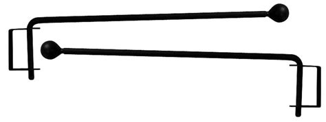 Wrought Iron Ball Curtain Rod Swiveling Cranes