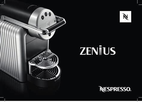 Handleiding Nespresso Zenius Zn100 Pro (pagina 1 Van 158) (alle Talen