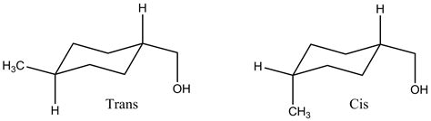 file cis and trans 1 methyl 4 hydroxymethyl cyclohexane png wikimedia commons