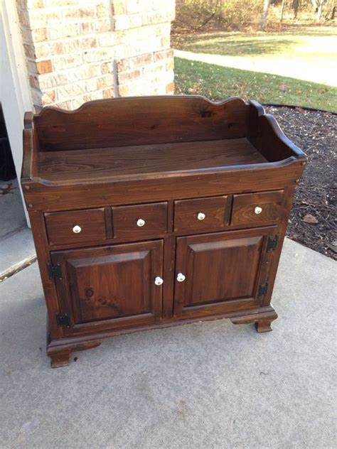 cabinets pine and ethan allen on
