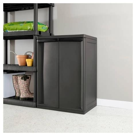 sterilite 4 shelf utility storage cabinet putty manicinthecity
