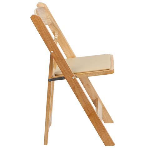 hercules series wood folding chair with vinyl padded seat foldingchairs4less