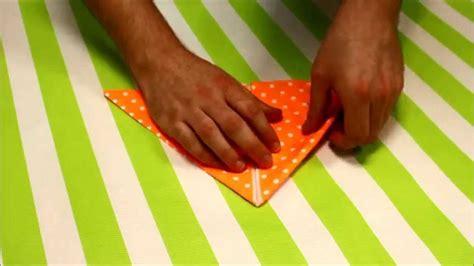 tuto 2 pliage de serviette porte couverts en 1 minute mesa