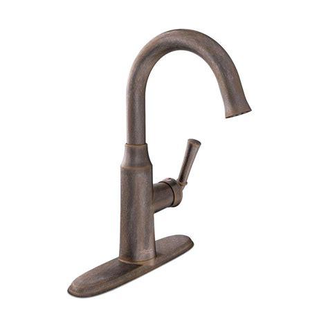 moen brantford single handle pull sprayer bar faucet featuring reflex in rubbed bronze