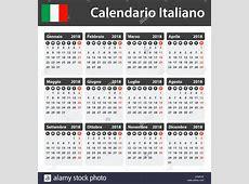 Italian Calendar for 2018 Scheduler, agenda or diary