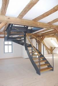 Stahl Holz Treppe : stahl holz treppen tischlerei burkhard schulze ~ Markanthonyermac.com Haus und Dekorationen