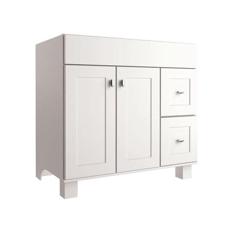 allen roth palencia white 36 in w x 21 in d white transitional bathroom vanity lowe s canada