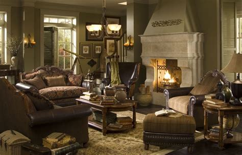 michael amini living room sets sedgewicke tudor brown finish complete living room set by