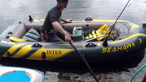 Intex Seahawk 3 Inflatable Boat intex seahawk 3 person inflatable boat youtube