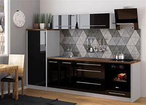 Schwarze Hochglanz Küche : k chenzeile k che 280cm grau schwarz hochglanz neu k che platinum grau k che feldmann ~ Markanthonyermac.com Haus und Dekorationen