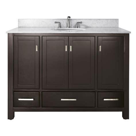48 inch single sink bathroom vanity in espresso with choice of countertop uvacmoderov48es