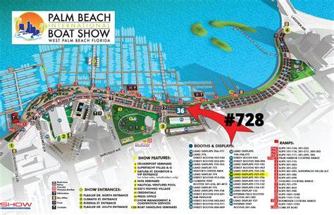Palm Beach International Boat Show Map by Bahama Boats Palm Beach International Boat Show 2018