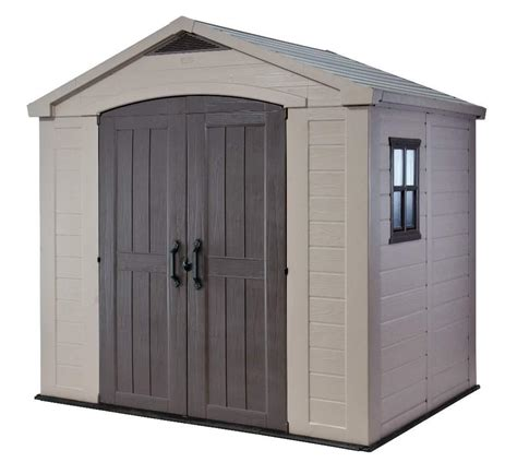 keter factor 8 x 6 shed 1 478 00 landera outdoor storage sheds and greenhouses