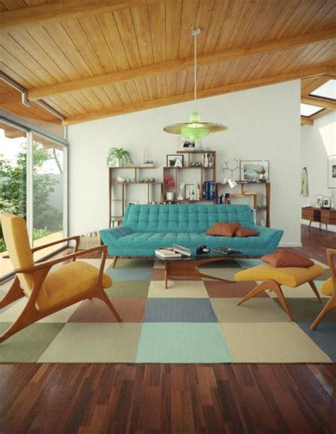 10 Modern Mid Century Living Room Interior Design Idea