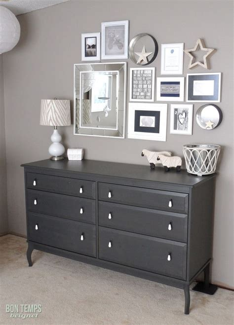 ikea nyvoll dresser light grey paint behr s taupe from the l bon