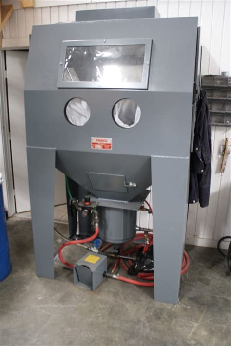 machine tool bids trinco 48x36 pc blast sand blaster