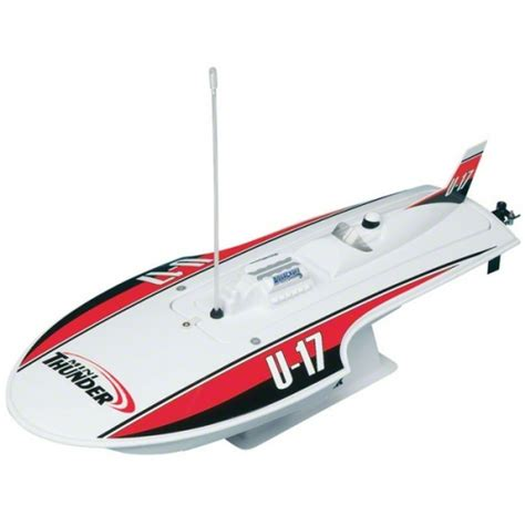 Round Electric Boat by Aquacraft Mini Thunder Electric Round Nose Hydroplane Rtr