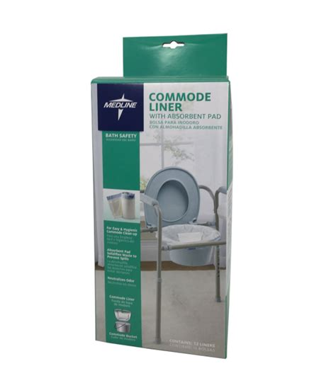 commode liners with absorbent pads for most commode buckets