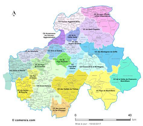 carte des intercommunalit 233 s de la haute savoie avec communes