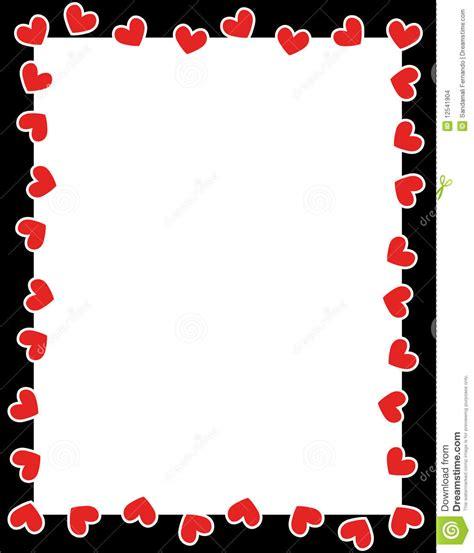 cadre du jour de de coeurs illustration de vecteur image 12541904