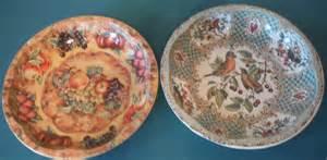2 vintage daher decorated ware 1971 floral design lrge tin