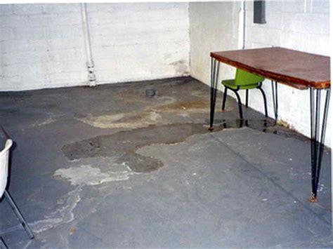 Water Coming Up Through Basement Floor View